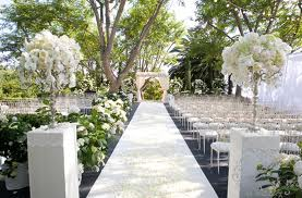 All White Wedding Aisle