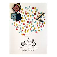 Thumbprint alternative guestbook