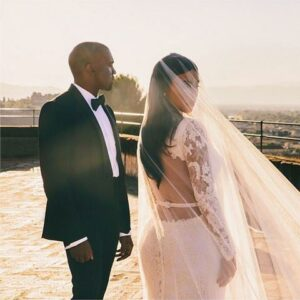 Kim Kardashian West in her Wedding Day make-up