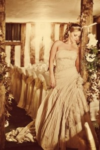 Beautiful featured Bride Kate on her wedding day