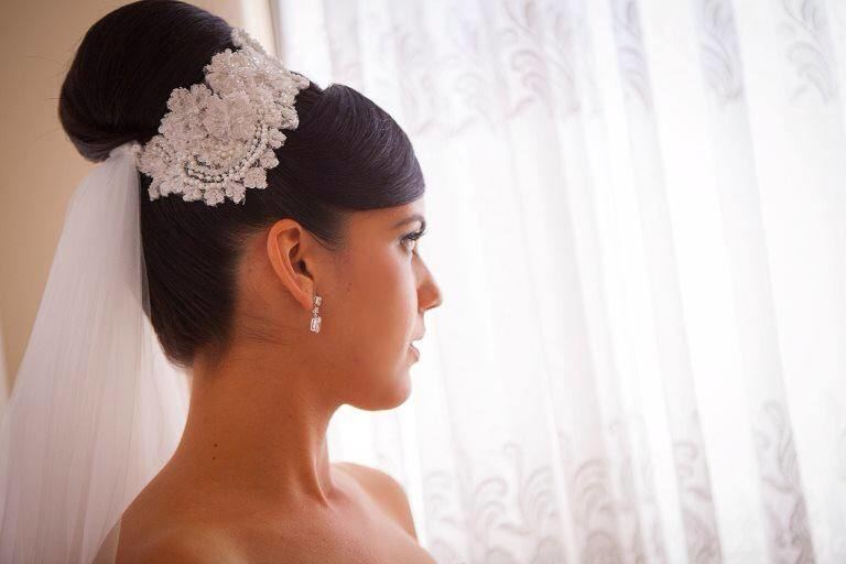 Edwina- Embroidered Bridal Clip Couture