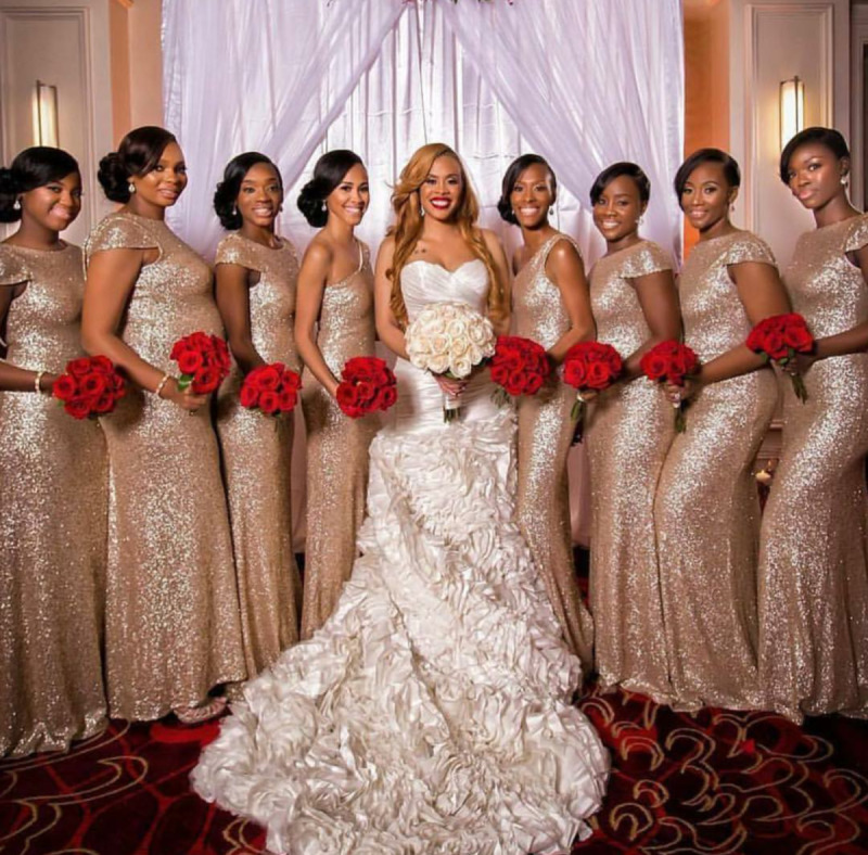 sparkly bridesmaids dress