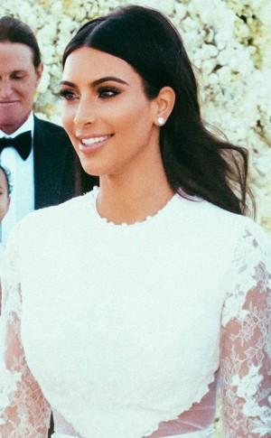Kim Kardashian West Bridal make-up Look