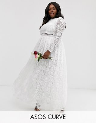 Check Out This £200 ASOS Edition Curve Grace Lace Crop Top Wedding Dress