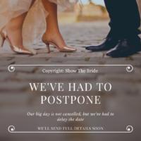 Wedding E-Card - Postponed Wedding - COVID19 - Wedding Delay