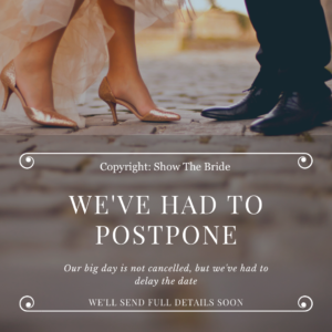 Wedding E-Card - Postponed Wedding - COVID19 - Wedding Delay