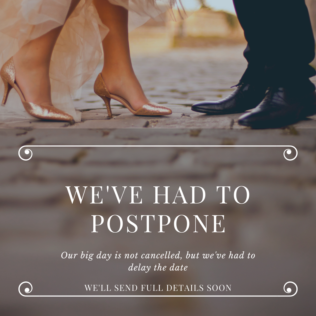 Postponed for now wedding e-card download